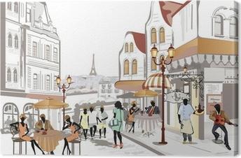 Canvas Serie van uitzicht op de straat in de oude stad