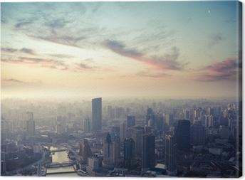 Canvas Shanghai in de schemering