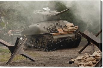 Canvas Sherman Tank - WW II