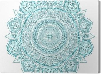 Canvas Sier-ronde kant patroon, cirkel achtergrond met veel detai