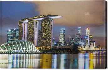 Canvas Singapore skyline