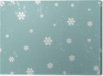 Canvas Sneeuwvlokken naadloze patroon