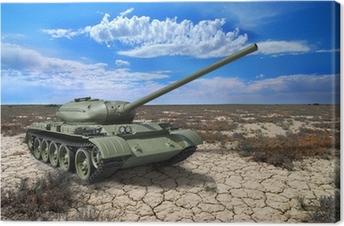 Canvas Sovjet tank T-54 van 1946 jaar