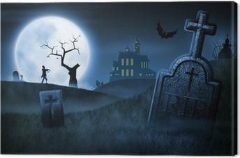 Canvas Spooky Halloween Night
