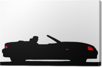 Canvas Sport auto silhouet