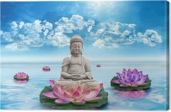 Canvas Standbeeld Bouddha