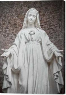 Canvas Standbeeld van Onze-Lieve-Vrouw