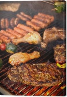 Canvas Steak on BBQ