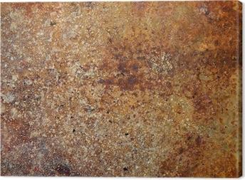 Canvas Sterk roestige metalen plaat