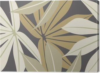 Canvas Stijlvol naadloze patroon met tropische bladeren