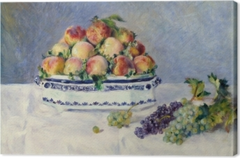 Canvas Still Life with Peaches