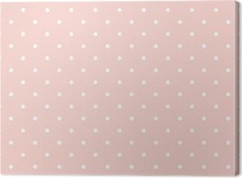 Canvas Stippen op baby roze achtergrond naadloze vector patroon