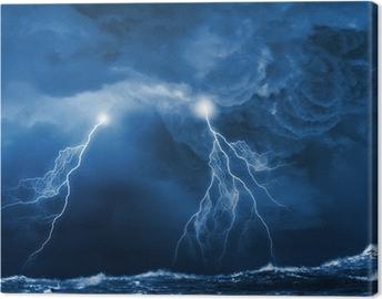Canvas Storm in de nacht