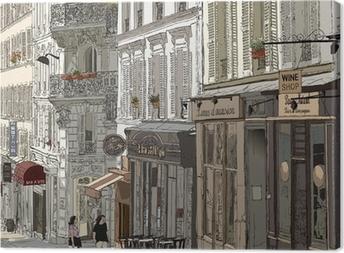Canvas Straat in Montmartre