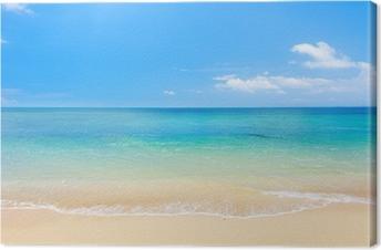 Canvas Strand en tropische zee