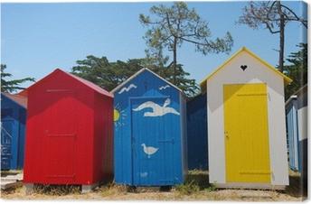 Canvas Strandhuisjes op eiland Oleron in Frankrijk