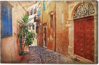 Canvas Strrets oude Griekenland - artistieke foto