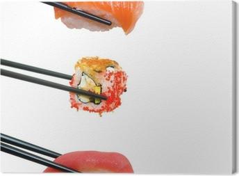 Canvas Sushi met stokjes