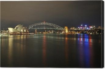 Canvas Sydney Harbour 's nachts