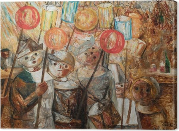 Canvas Tadeusz Makowski - Děti s pochodněmi - Reproductions
