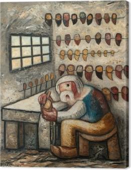 Canvas Tadeusz Makowski - Obuvník