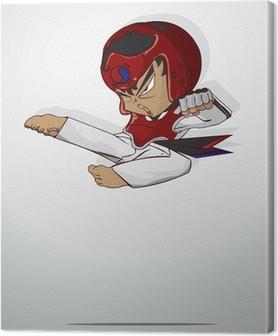 Canvas Taekwondo krijgskunst