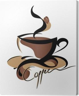 Canvas Teken van de Koffie