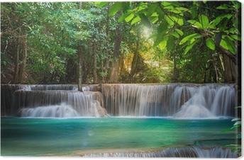 Canvas Thailand waterval in Kanchanaburi (Huay Mae Voordat)
