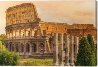 Canvas The Majestic Colosseum, Rome, Italië.