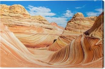Canvas The Wave, Arizona rotsachtige woestijn