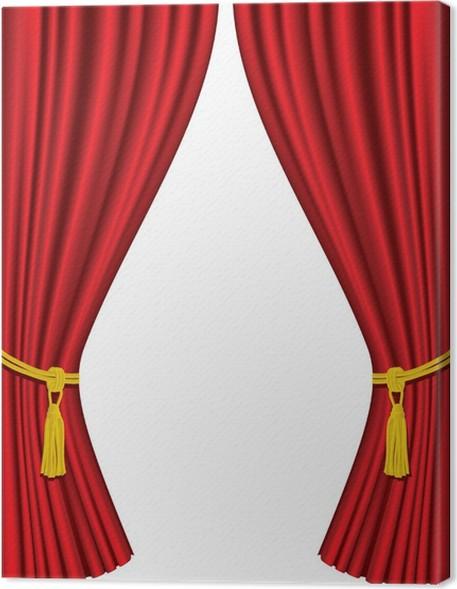 canvas theater gordijnen op een witte achtergrond