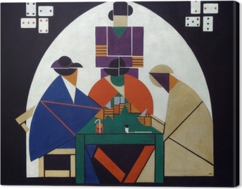 Canvas Theo van Doesburg - Karetní hráči