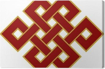 Canvas Tibetanischer Endlos Knoten - Glückssymbol