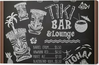 Canvas Tiki Bar & Lounge Schoolbord Cocktail Menu