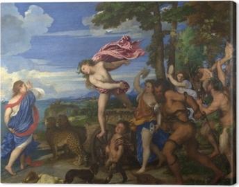 Canvas Titiaan - Bacchus en Ariadne