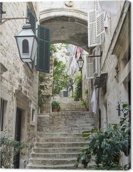 Canvas Trappen in de Oude Stad van Dubrovnik