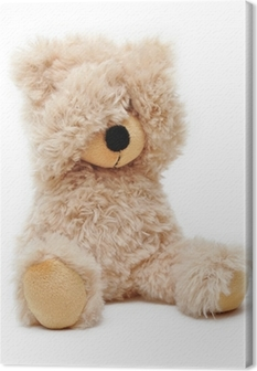 Canvas Trauriger Teddy