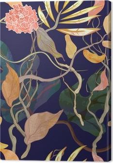 Canvas Trendy naadloze patroon met haven thema. watecolor planten
