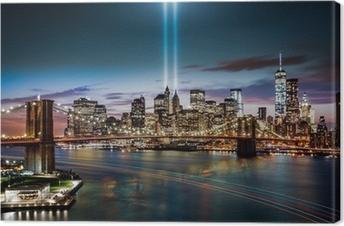 Canvas Tribute in Light gedenkteken op 11 september 2014