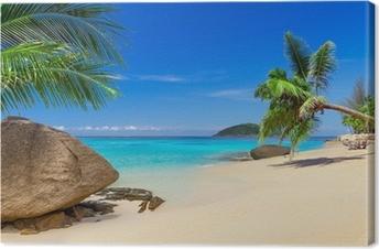 Canvas Tropisch strand landschap in Thailand