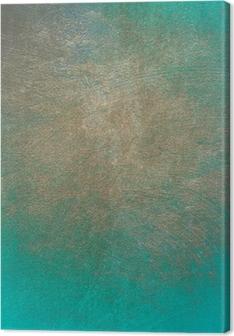 Canvas Turquoise beton grunge textuur voor de achtergrond
