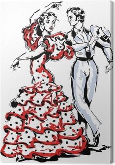 Canvas Typisch Spaanse flamenco vector illustratie