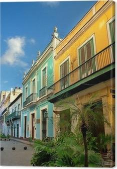 Canvas Typische oude Havana architectuur