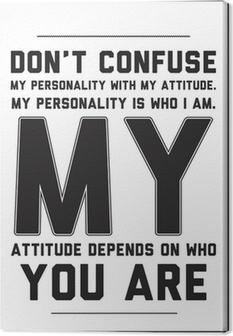 Canvas Typografie motivatie poster met citaat op een witte achtergrond