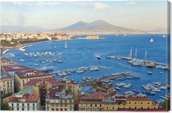 Canvas Uitzicht op de Baai van Napels