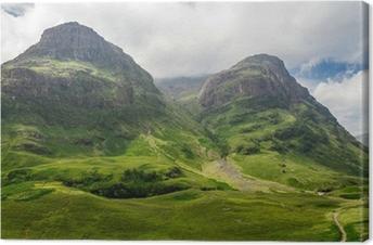 Canvas Uitzicht op de bergen in Schotland in de Glencoe