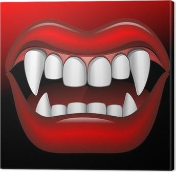 Canvas Vampire Mouth Fierce Halloween-Bocca di Vampiro Feroce-Vector