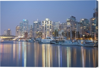 Canvas Vancouver Skyline at Night