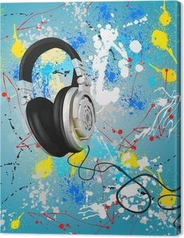 Canvas Vector abstracte hoofdtelefoon samenstelling