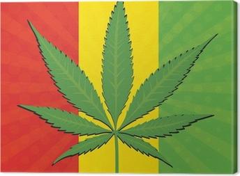 Canvas Vector cannabis blad
